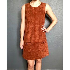 C. Luce Suede Shift Dress